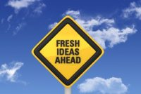fresh ideas ahead warning sign