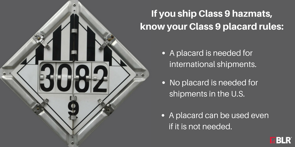 Class 9 Shipments To Placard Or Not Placardthat Is The Question
