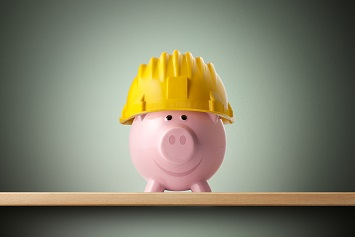 Safety budgets piggy bank