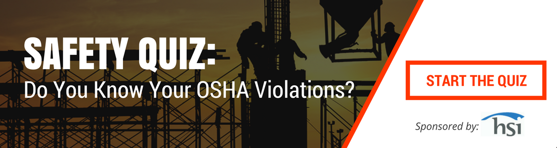 OSHA safety quiz