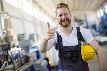 Safety thumbs up, total worker health