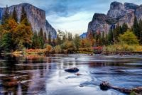 Yosemite Merced River el Capitan Panorama