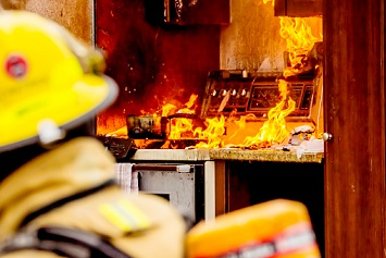 House kitchen fire