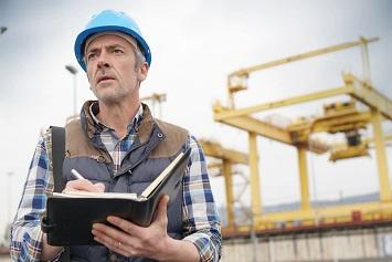 OSHA inspector at construction site