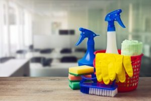 Cleaning supplies, solvents, chemicals