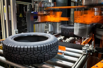 Tire manufacturing factory