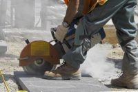 Silica dust at construction site