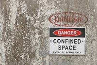 Confined space, entry by permit only
