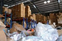 Messy warehouse facility