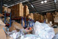 Messy warehouse facility