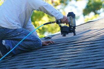 Roofing work, roofer