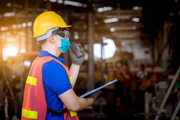 Safety inspection with facemask