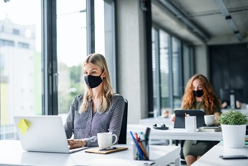 Workplace masks and distancing