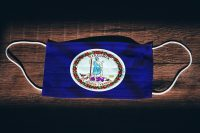 Virginia state flag as facemask, COVID-19