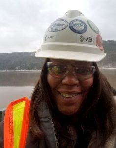 Crystal Turner-Moffatt PPE selfie in the field
