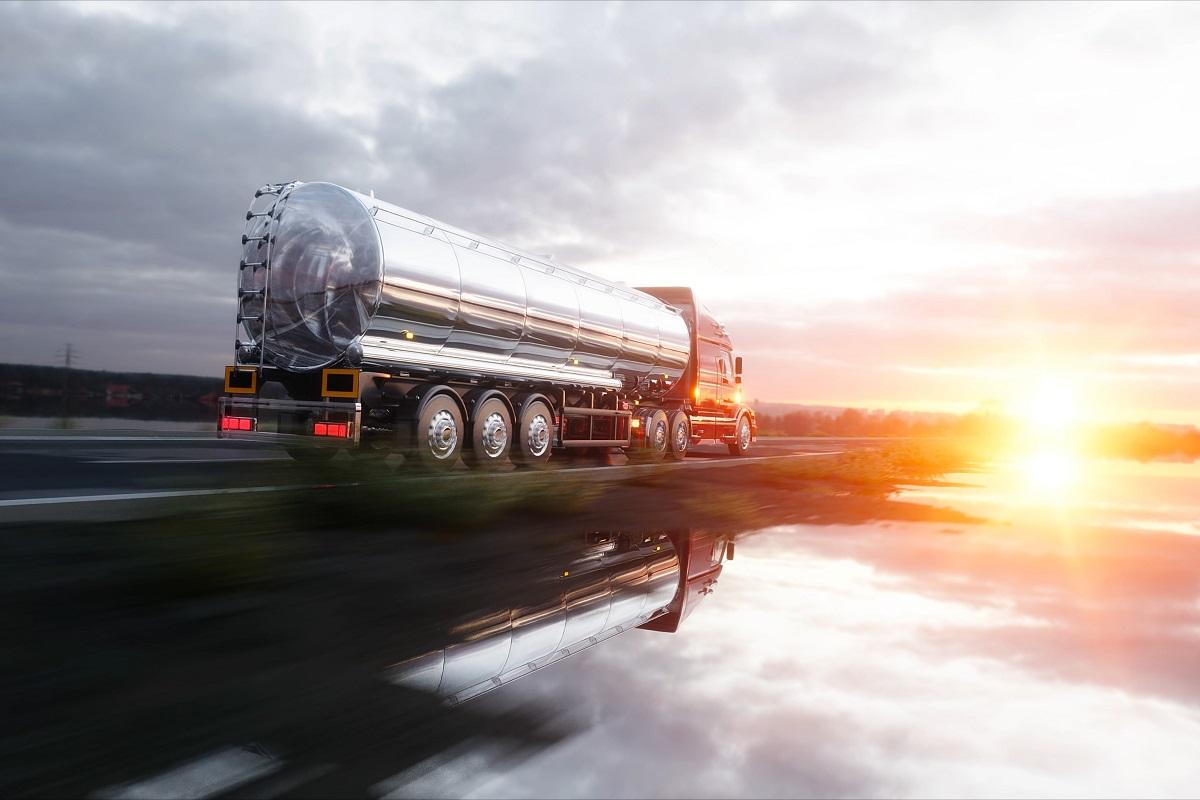 Fuel or oil truck, pipeline, transportation