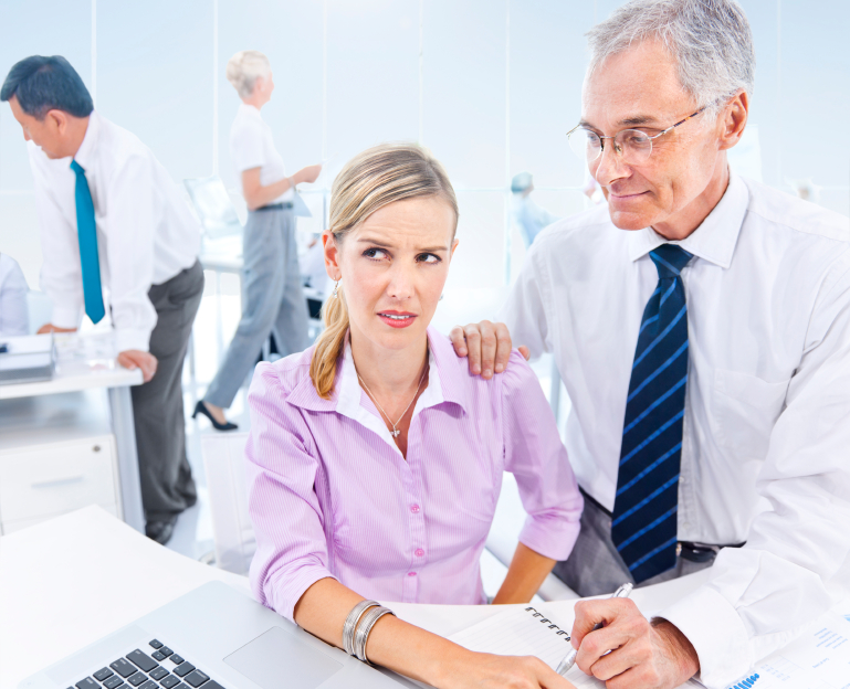 Pity, sexual harrassment in male dominated workplace good