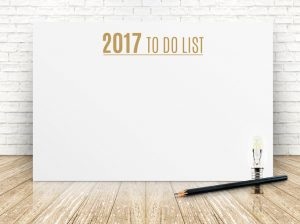 2017 To do list year on white poster with pencil