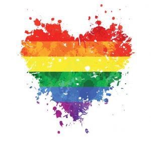 LGBT grungy heart