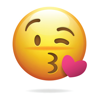 Emoji throwing a kiss