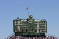 scoreboard, wrigley field