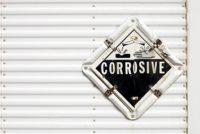 Semi Trailer Corrosive Warning Placard