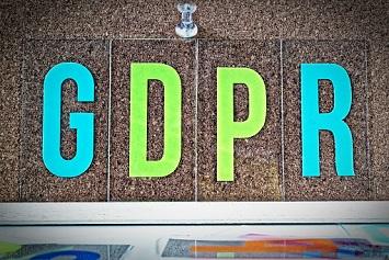Board with GDPR Inscription