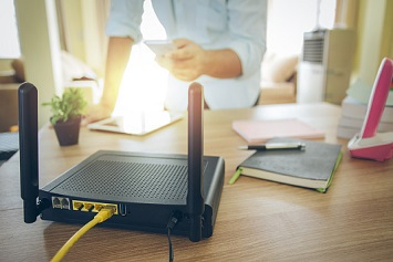Wireless Router in Home Office