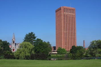 Memorial Hall and W.E.B. DuBois Library, University of Massachusetts Amherst