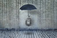 protecting idendity fingerprints or id fraud from binary codes as like rain, guarding identity symbol and personal information