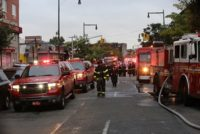 First Responders in Borough Park in wake of an explosion.
