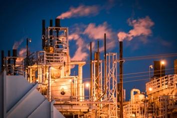 Chemical Facility at dawn