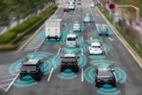 Sensing system and wireless communication network of vehicle.