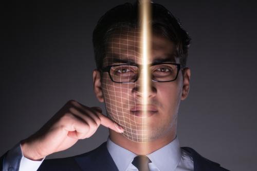 Facial recognition deepfake concept