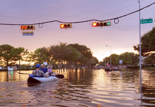 Search and rescue on flooded streets