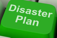 disaster plan green button