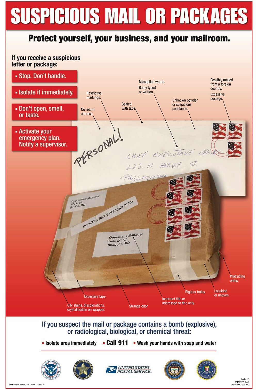 Suspicious Package Poster