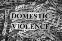 Newspaper clippings of words Domestic and Violence