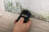 Testing the mold level in drywall