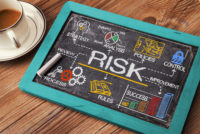Risk Assessment chalkboard concept